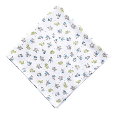 Magnolia Baby Boys Blue Perfect Prince & Castle Swaddle Blanket