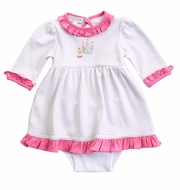 Magnolia Baby Girls Pink Perfect Princess & Castle Dress Set