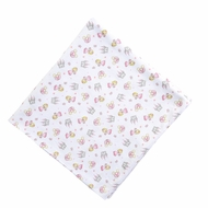 Magnolia Baby Girls Pink Perfect Princess & Castle Printed Swaddle Blanket