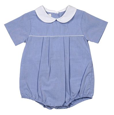 Petit Ami Baby Boys Blue Bubble with Collar