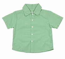 Petit Ami Boys Spring Green Check Short Sleeved Dress Shirt