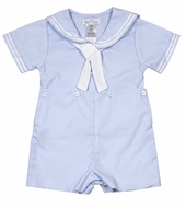Petit Ami Infant / Toddler Boys Sailor Suits Button On - Light Blue