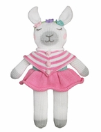 Petit Ami Zubels Girls Stuffed Pink Llama 12 inch Doll Toy
