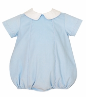 Petit Bebe Baby Boys Light Blue Corduroy Bubble with Collar