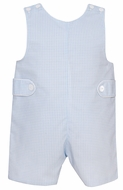Petit Bebe Baby / Toddler Boys Blue Check Shortall with Tabs