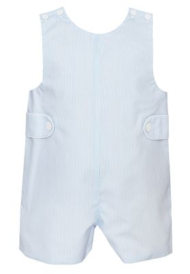 Petit Bebe Baby / Toddler Boys Blue Striped Poplin Jon Jon