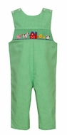 Petit Bebe Baby / Toddler Boys Green Check Smocked Farm Longall