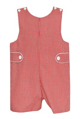 Petit Bebe Baby / Toddler Boys Red Check  Christmas Jon Jon