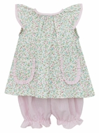 Petit Bebe Baby / Toddler Girls Pink / Blue Liberty Floral Bloomers Set