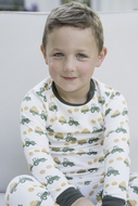 James & Lottie Boys Pumpkin Truck Pajamas - Green