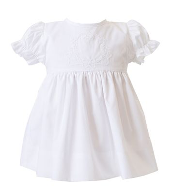 Proper Peony Baby / Toddler Girls White Woodlawn Dress