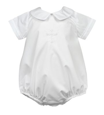Pre-Order: The Proper Peony Legacy Baby Boys White Cross Bubble