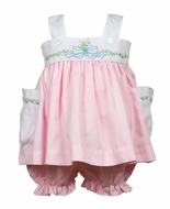 The Proper Peony Baby / Toddler Girls Pink Raleigh Bloomers Set