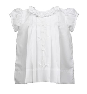 The Proper Peony Baby / Toddler Girls White Cross Dress