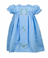 The Proper Peony Girls Blue Clover Easter Bunny Dress
