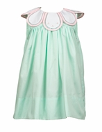 The Proper Peony Girls Mint Green Tulip Bloom Dress