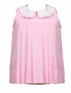 The Proper Peony Girls Pink Dotted Swiss Posy Dress
