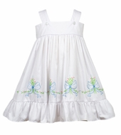 The Proper Peony Girls White Raleigh Ribbon Dress