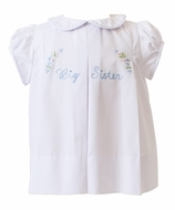 Proper Peony Baby / Toddler Girls Big Sister Dress - White