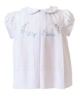 The Proper Peony Legacy Girls Big Sister Dress - White