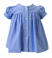 Proper Peony Girls Blue Chambray Stella Dress