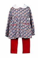 Proper Peony Parkside Girls Basic Tunic Top - Apple Plaid Top Only
