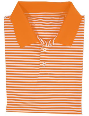 Properly Tied Boys Striped Game Day Polo Shirt - Orange