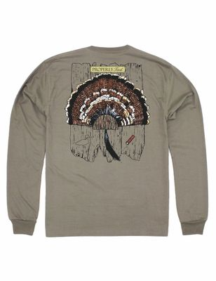 Properly Tied Tee Shirt - Logo Pocket on Front - Back Graphic - Tan Turkey Mount
