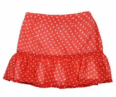 Rachel Riley London Girls Red / White Dots Flounce Skirt
