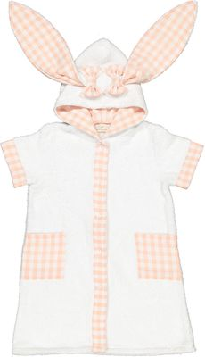 Sal & Pimenta Baby / Toddler Girls Robe Cover Up - Pink Bunny Ears