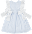Sal & Pimenta Girls Dress - Blue Stripes - Embroidered Fish - Bows at Sides