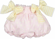 Sal & Pimenta Toddler Girls Bubbly Shorts with Bows - Pink / Yellow Daisy