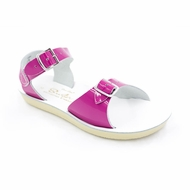 Salt Water Sun-San Surfer Sandals - Shiny Fuchsia
