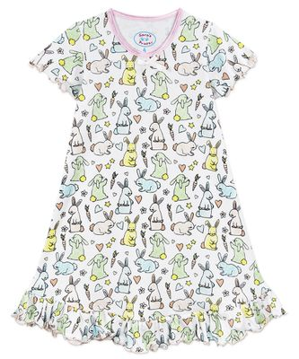 Sara's Prints Girls Nightgown - Sweet Easter Bunnies