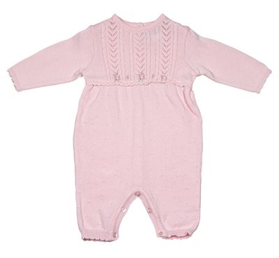Sarah Louise / Dani Baby Girls Pink Cable Knit Sweater Romper