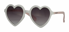 Snapper Rock Girls Sunglasses - White Heart with Pink Temple