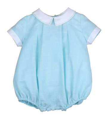 Sophie & Lucas Baby Boys Aqua Terrace Weave Bubble