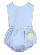 Sophie & Lucas Baby Boys Blue Pocket Peep Chick Overall Bubble