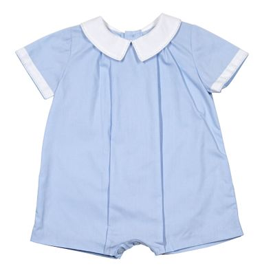 Sophie & Lucas Baby Boys Blue Teddy Romper with Collar