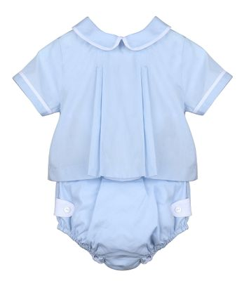 Sophie & Lucas Baby Boys Blue Two Piece Set