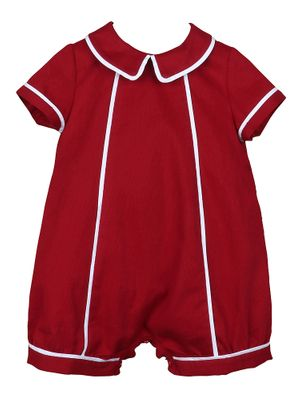 Sophie & Lucas Baby Boys Cozy Cord Burgundy Bubble