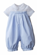 Sophie & Lucas Baby Boys Long Georgie Romper - Light Blue