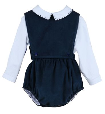Sophie & Lucas Baby Boys Navy Blue Bubble with Blue Shirt
