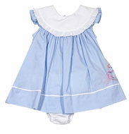 Sophie & Lucas Baby Girls First Birthday Dress - Blue