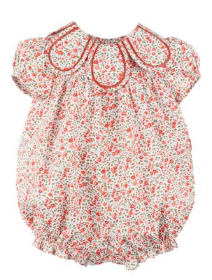 Sophie & Lucas Baby Girls Orange Fall Floral Petal Collar Bubble