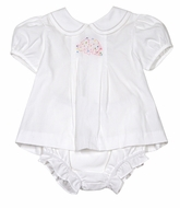 Sophie & Lucas Baby Girls White Animal Crackers Elephant Bloomers Set