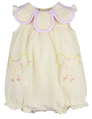 Sophie & Lucas Baby Girls Yellow Pocket Peep Chicks Petal Bubble