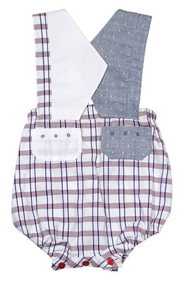 Sophie & Lucas Baby / Toddler Boys Blue Plaid Vintage Nautical Captain Bubble