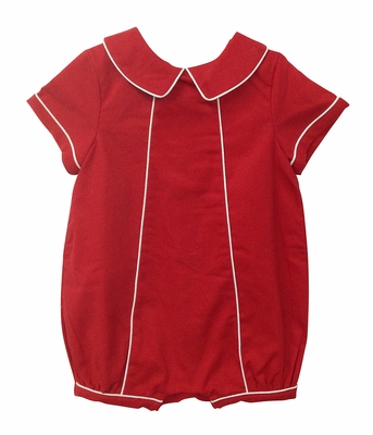Sophie & Lucas Baby / Toddler Boys Merrymaker Red Christmas Bubble