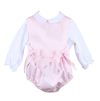 Sophie & Lucas Baby / Toddler Girls Corduroy Bubble with Bows & Blouse - Pink